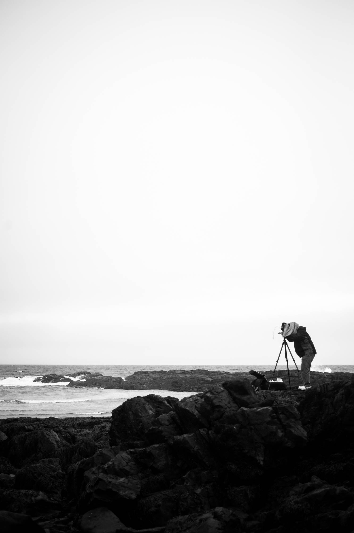 Shooting large format film at Perkins Cove