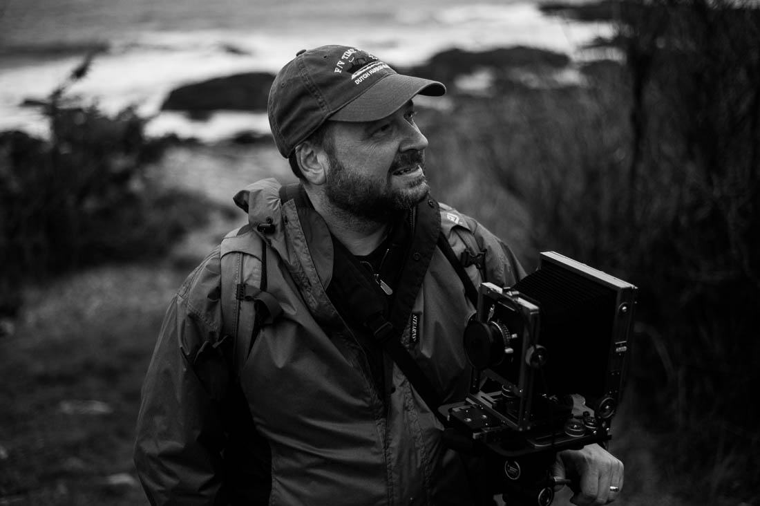 Ray Larose with his 4x5 camera at NEWLK: Ogunquit