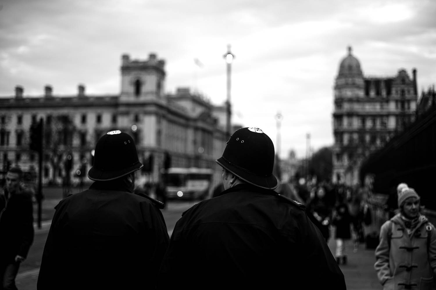 A pair of officers walking through London