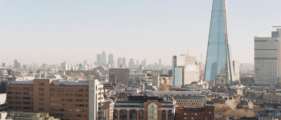 The city of London as seen from the observation deck at the Tate Modern museum
