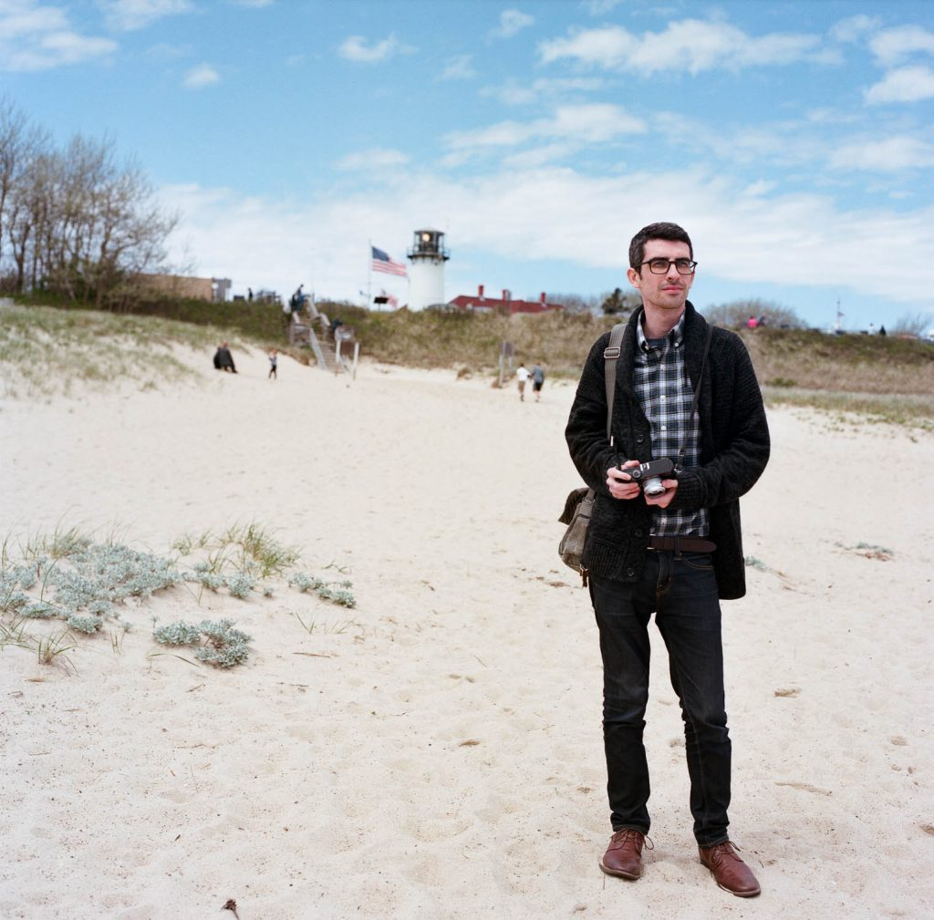 Tyler on the beach in Cape Cod