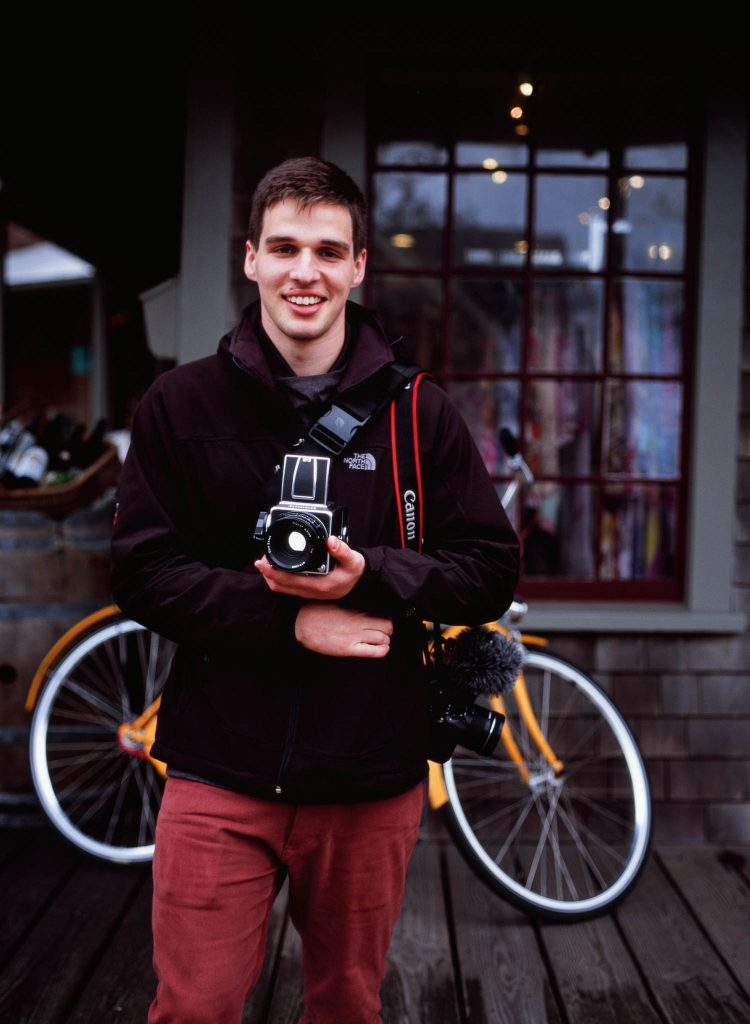 Thomas with his Hasselblad for NEWLK Nantucket