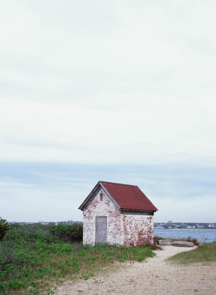 A shed near Brant Point Light in Nantucket